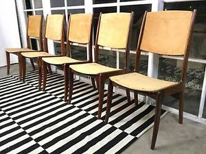 Danish Rosewood Retro-Vintage Dyrland Dining Chairs-Can Deliver Arncliffe Rockdale Area Preview