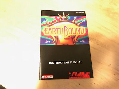Super Nintendo SNES Earthbound custom regular size MANUAL ONLY! comprar usado  Enviando para Brazil