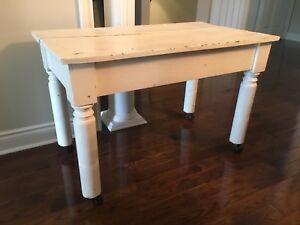 White Antique Table