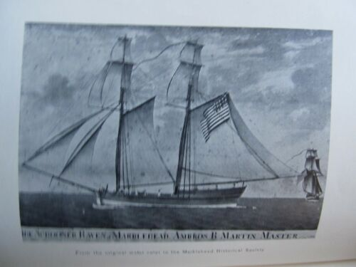 Antique Maritime, Nautical Book SHIP COMMERCE & REGISTERS, MARBLEHEAD, 1789-1850