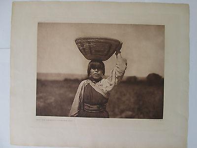 """From the Threshing-Floor-San Juan""/Original Edward S. Curtis Portfolio Print"
