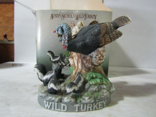 Wild Turkey & Skunks Miniature Decanter