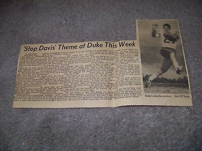 1966 The Roanoke Times Jake Devonshire Duke University Jay Calabrese Frank Ryan