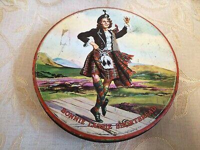 Large Vintage Bonnie Lassie Shortbread R. Middlemass & Son Ltd. Edinburgh Tin
