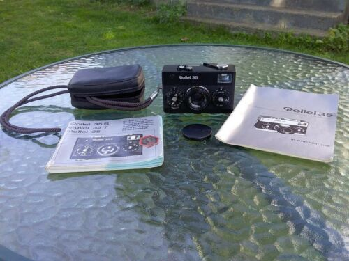 Rollei 35 VIEWFINDER CAMERA with 3.5/40mm Tessar Lens, Cap,  Pouch, & Manuals