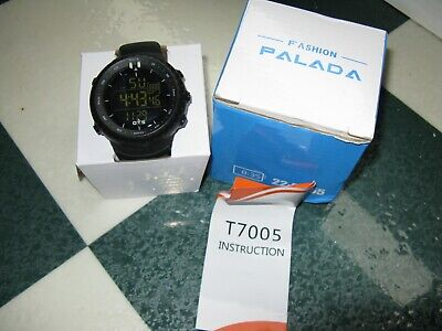 PALADA Men's Digital Sports Watch Waterproof Tactical Watch with Backlight T7005