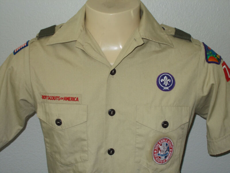 Boy Scouts of America Official Uniform Shirt With Patches Eagle Scout Men Small