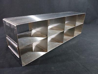 Laboratory Stainless Steel Ss 8-position 3 Box Upright Freezer Rack 22 Deep