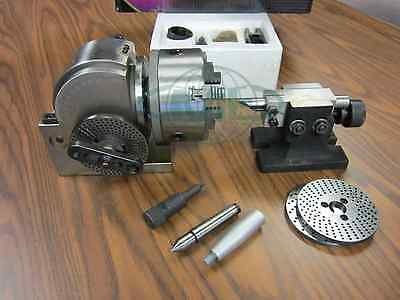 Bs-1 Precision Dividing Head With 6 3-jaw Chuck Tailstock Part Bs-1-new