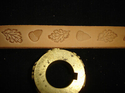 Leather Embossing Machine Roll Oak Leaves and Acorn pattern Solid Brass