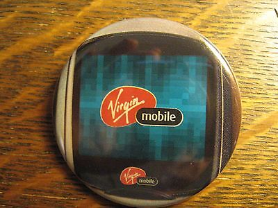 Virgin Mobile Old School Cell Phone Vintage Advertisement Lapel Hat Button Pin](Old School Cell Phone)