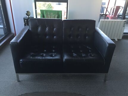 2-seater leather couch lounge sofa QUICK SALE Waterloo Inner Sydney Preview