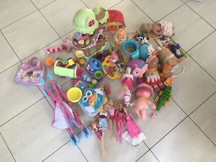 Assorted children's toys and dolls