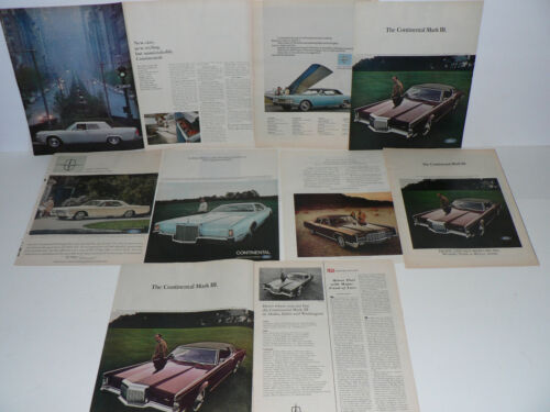Lincoln Magazine Ads, Lot of 8, 1960