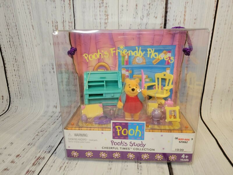 1998 Vintage Pooh's Study Cheerful Times Collection Poohs Friendly Places New