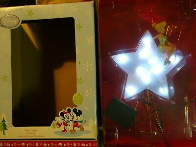 DISNEY Christmas Tree Topper Tinker Bell Star - Missing Wings - Light Up Works