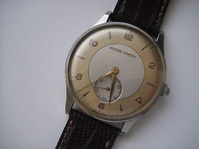 ULYSSE NARDIN   BIG 38 MM  MENS MNUAL WIND  WATCH VINTAGE
