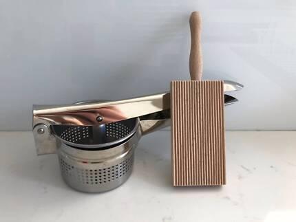 d.line Stainless Steel/chrome Potato Masher, Gnocchi, Baby Puree2