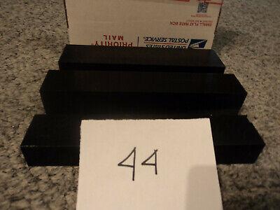 Black Plastic Delrin Acetal Sheetblock Lot 3 Pieces Cnc Mill 44