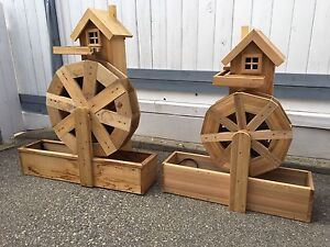 Cedar water wheels