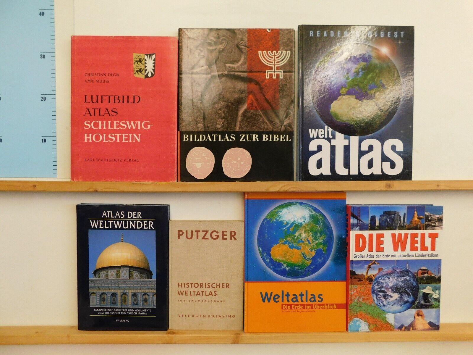 16 Atlanten Atlas Fachatlanten Weltatlanten Weltatlas