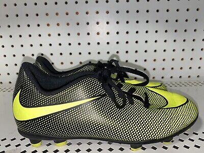 Nike Bravata II FG Boys Youth Soccer Cleats Size 4Y Volt Black