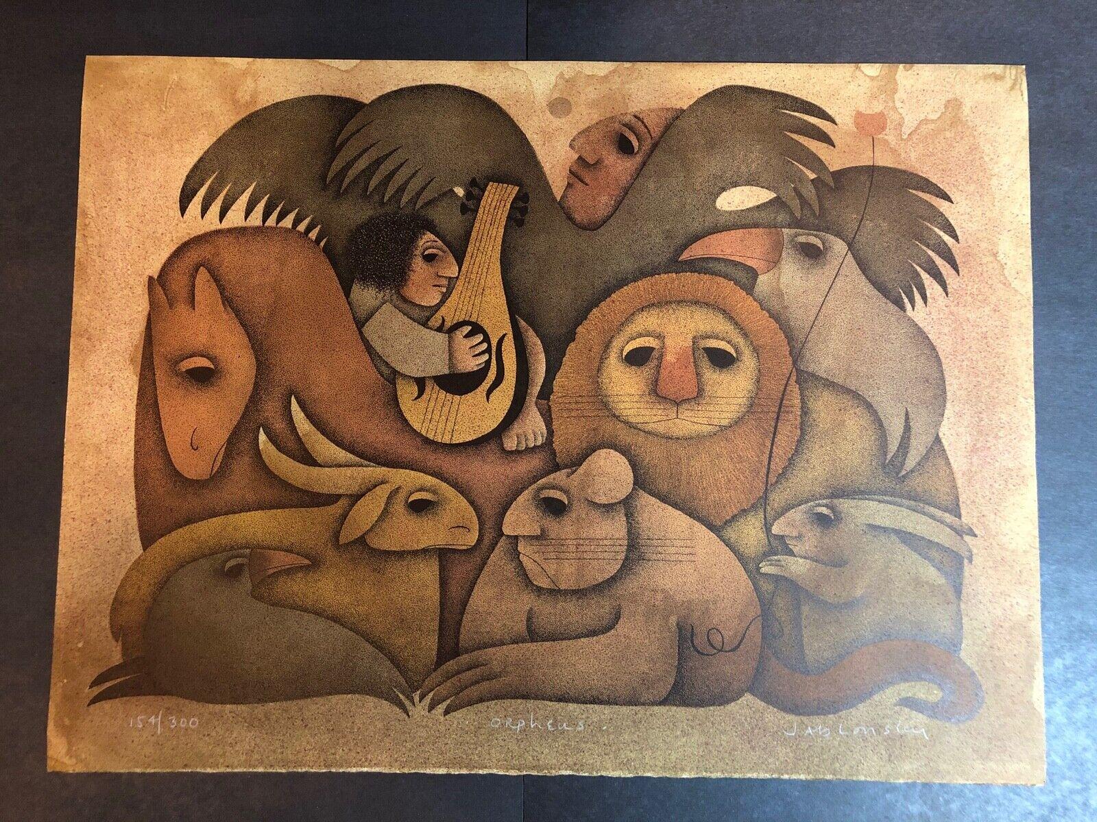 Carol Jablonsky Lithograph Art Print – Orpheus Limited Edition 154/300 Art
