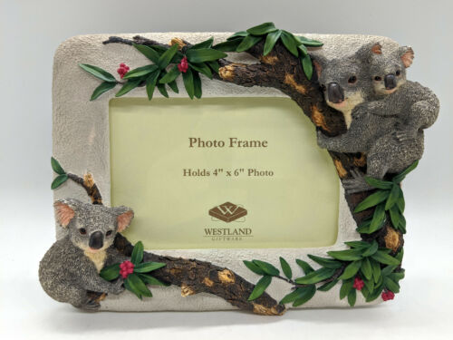 "New 3D Koala Family Photo Frame For 4x6"" Picture 3 Koalas By Westland # 3546"