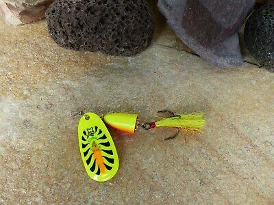 Blue Fox Vibrax UV 2 Copper UV Spinner Spin Hecht Zander Barsch TOP Red//Black