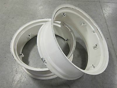 2 New Wheel Rims 11x28 6-loop Fit Many Massey Ferguson Tractors 11 28 11-28