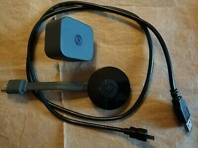 Google Chromecast Official 2nd Generation Media Streamer Black NC2-6A5 Working.