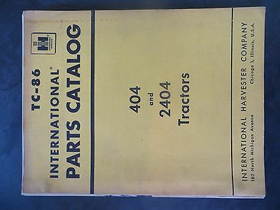 Farmall Ih 404 And 2404 Series Tractors Parts Catalog