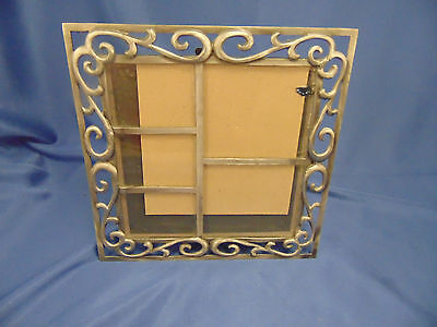 "Swirl metal picture frame 5 photo slots 7 3/4"" sq contemporary grouping art"