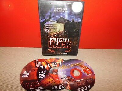Fright Pack (DVD, 2006, 3-Disc Set) GOOD CONDITION! FREE SHIPPING!