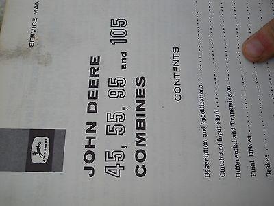 John Deere Service Manual For 455595105 Combines
