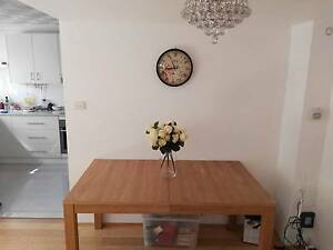 Extendable dinning table (1.5m & 1.8m) with PVC cover Neutral Bay North Sydney Area Preview