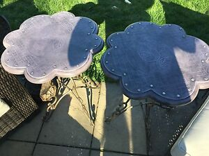 Matching side tables, indoor or outdoor