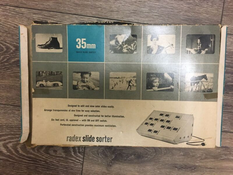 Radex Illuminated Slide Sorter 35mm Vintage