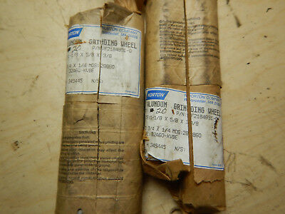 2 Packs Of New Old Stock Norton Metal Lathe Tool Post Grinding Wheels