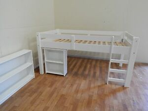 White king single loft bunk bed SYD DELIVERY & ASSEMBLY AVAILABLE Windsor Hawkesbury Area Preview