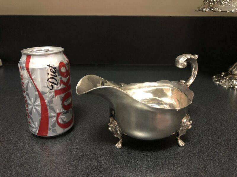 George II Sterling Gravy Boat Circa 1754 London Excellent