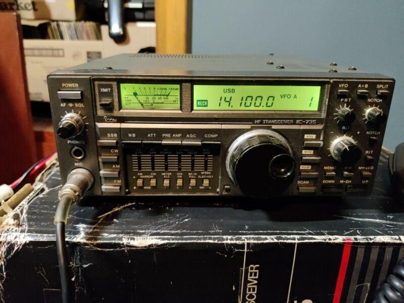 icom ic-735 SSB, CW, FM and AM Silent Key Sale 160 - 10 meter