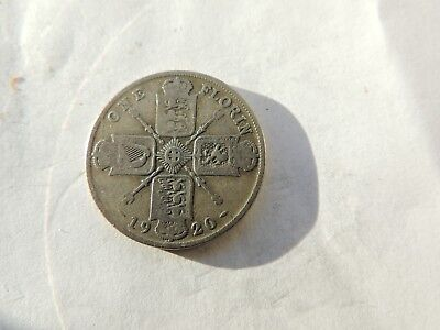 1920 GEORGE V SILVER FLORIN / TWO SHILLING COIN - REF 133