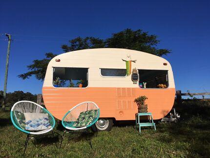 Mobile Bar Event Party Wedding Hire 1970 Vintage Caravan Byron Bay