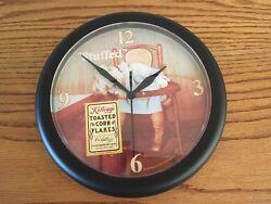 NEW! Vintage 1996 Kellogg's Toasted Corn Flakes Stuffed Battery Wall Clock