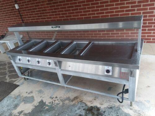 Servolift Stainless Steam Table 501-4 Buffet Heated bar. Folding sides.