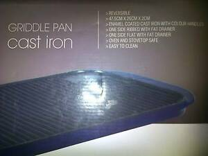 Cast Iron Griddle Pan / No-Stick Grill Frying Pan Eastwood Ryde Area Preview
