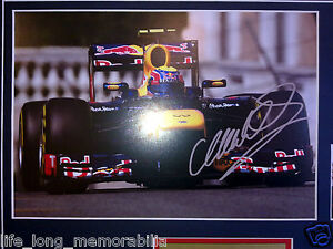 MARK WEBBER 2012 FORMULA 1 MONACO GP CHAMPION SIGNED FRAMED RED BULL RACING