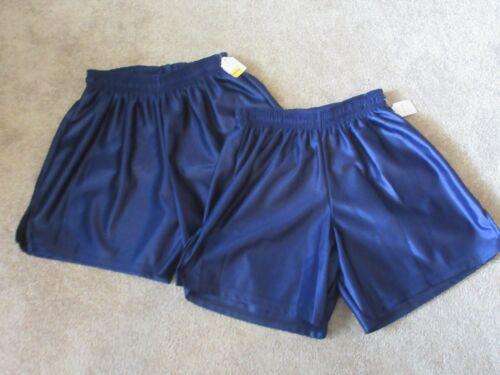 New lot of 2 AMERICAN brand Blue Youth Large Nylon Vintage Shiny shorts