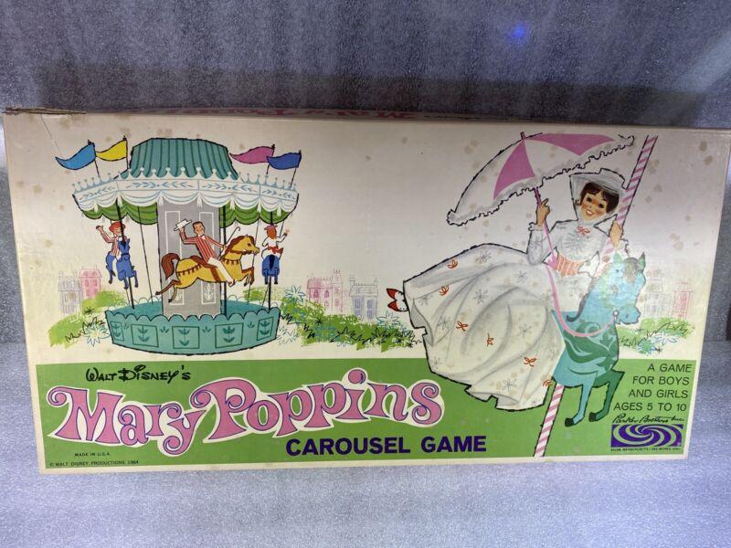 Vintage Walt Disney Mary Poppins Carousel Game 1964